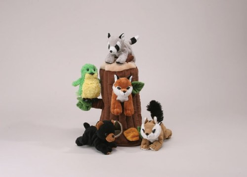 large-Tree with 5 plush animals